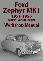 Ford Zephyr Mark 1 Workshop Manual
