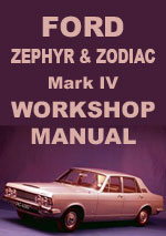 Ford Zephyr Mark 4 Workshop Repair Manual