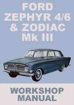 Ford Zephyr & 4/6 Ford Zodiac  Ml III Workshop Repari Manual