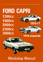 Ford Capri 1974-1983 Workshop Repair Manual